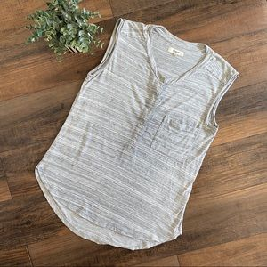 Madewell Small Gray Sleeveless Top